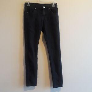 Forever 21 black shinny jeans